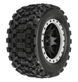 "Proline 1/6 Badlands MX43 F/R 4.3"" Mounted X-MAXX 24mm (2) Black"