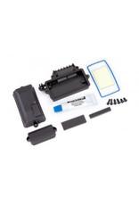 Traxxas Box, receiver (sealed)/ foam pad/ silicone grease/ 3x8mm BCS (2)/ 2.5x8mm CS (2)/ 3x6mm BCS (2)