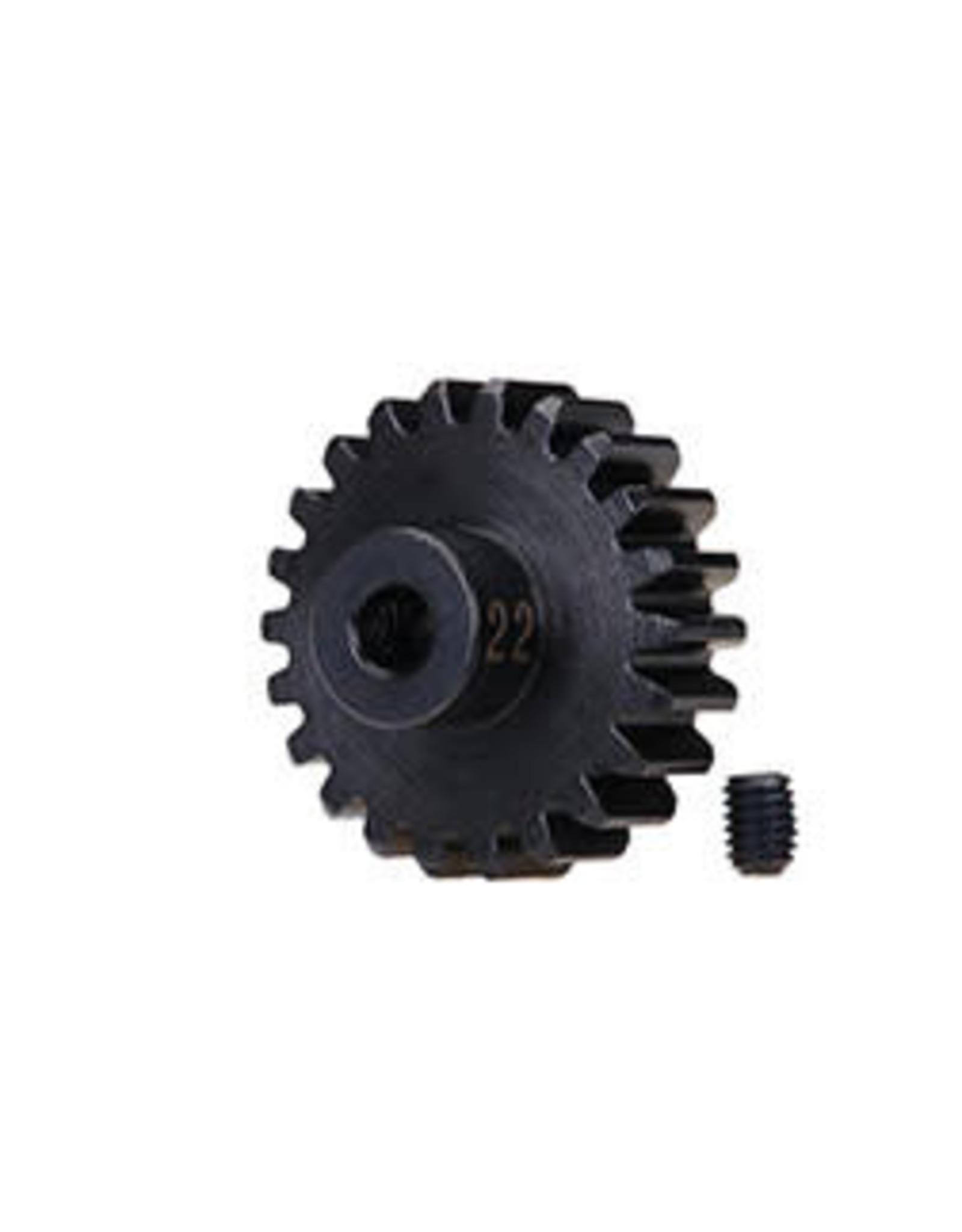 Traxxas [Gear, 22-T pinion (32-p), heavy duty (machined, hardened steel)/ set screw] Gear, 22-T pinion (32-p), heavy duty (machined, hardened steel)/ set screw
