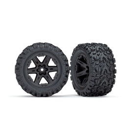 """Traxxas [Tires & wheels, assembled, glued (2.8"""") (RXT black wheels, Talon Extreme tires, foam inserts) (4WD electric front/rear, 2WD electric front only) (2) (TSM rated)] Tires & wheels, assembled, glued (2.8"""") (RXT black wheels, Talon Extreme t"""