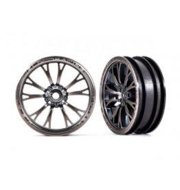 Traxxas Wheels, Weld satin black chrome (front) (2)