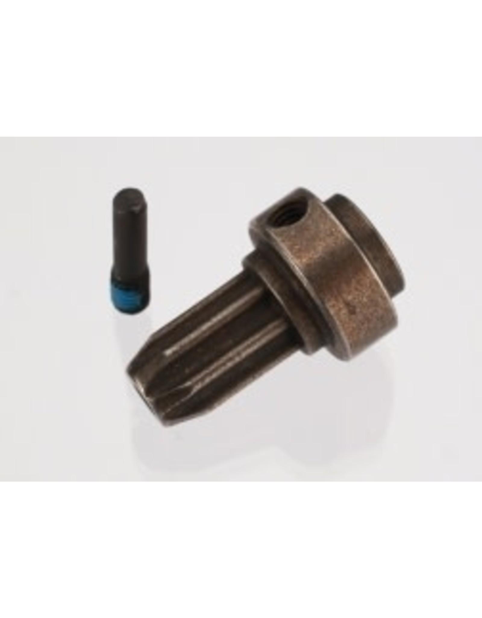 Traxxas [Drive hub, front, hardened steel (1)/ screw pin (1)] Drive hub, front, hardened steel (1)/ screw pin (1)