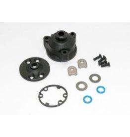 Traxxas Housing, center differential/ x-ring gaskets (2)/ ring gear gasket/ bushings (2)/ 5x10x0.5 TW (2)/ CCS 2.5x8 (4)