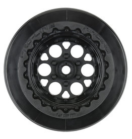 "Proline 1/10 Showtime+ Wide Rear 2.2""/3.0"" 12mm Drag Wheels (2) Black"