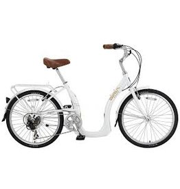 Biria Bikes Easy boarding Easy 7, 7 speed Derailleur, 15, Pear White