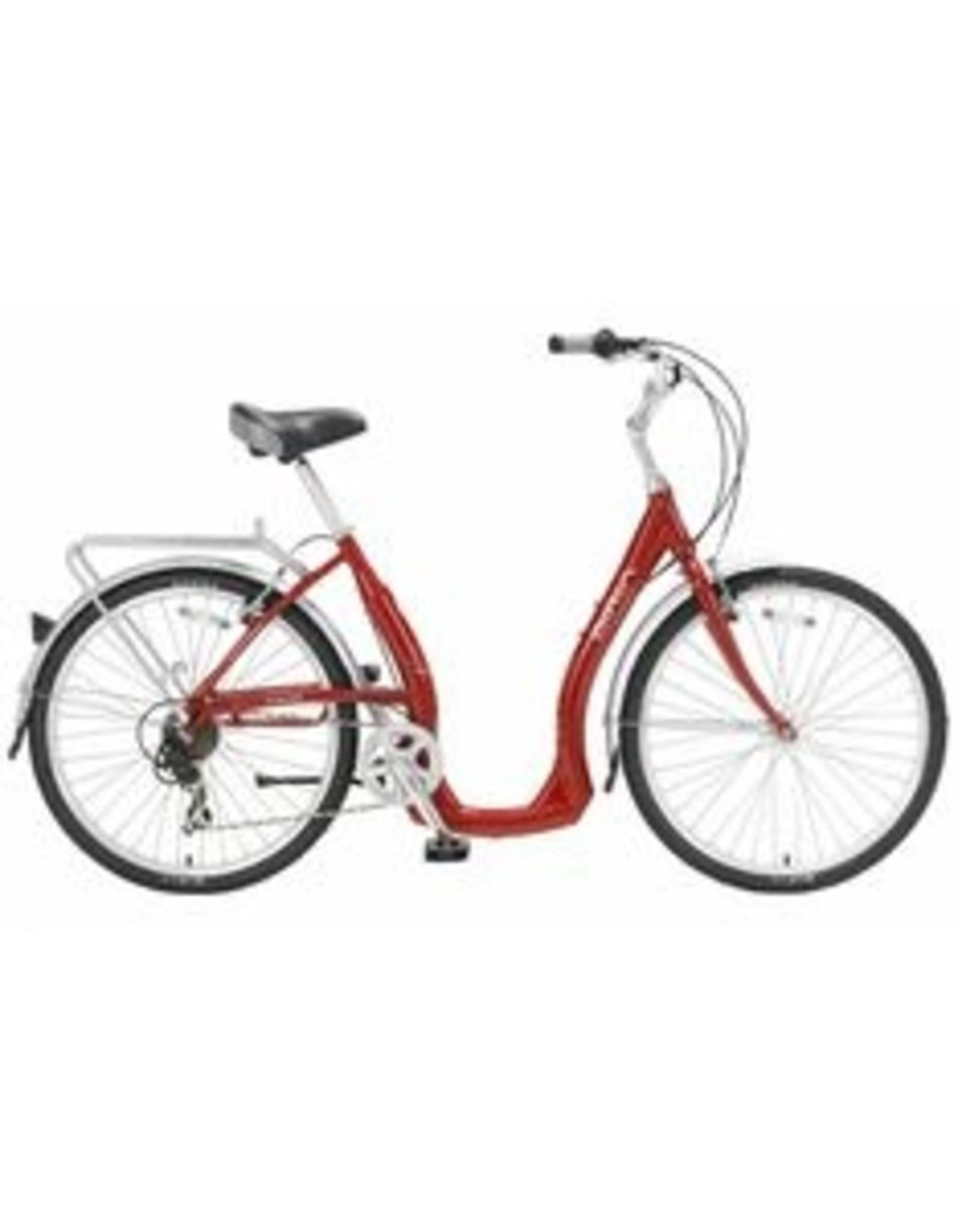 Biria Bikes Easy boarding Easy 7, 7 speed Derailleur, 18, Red