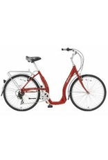Biria Bikes Easy boarding Easy 7, 7 speed Derailleur, 15, Red