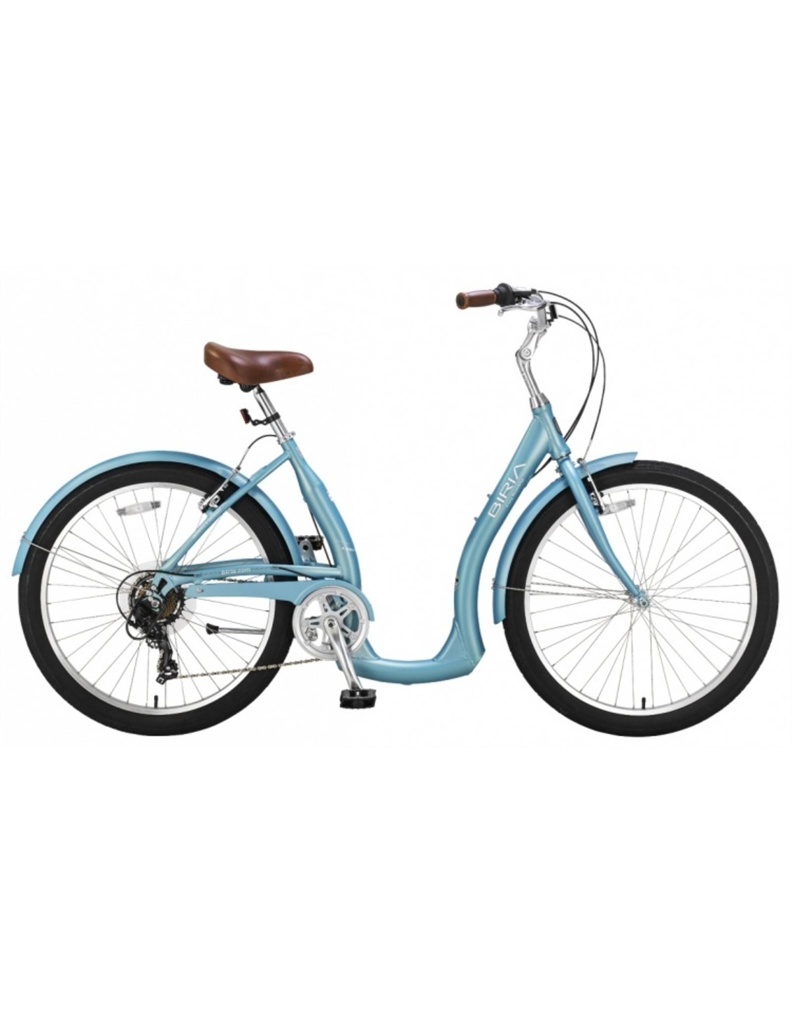 Biria Bikes Easy boarding Easy 7, 7 speed Derailleur, 15, Aqua Blue