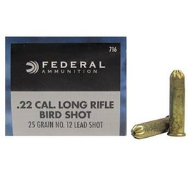 Federal Federal Game-Shok 22 LR, #12 Lead Bird Shot 25 gr, 50 rnds