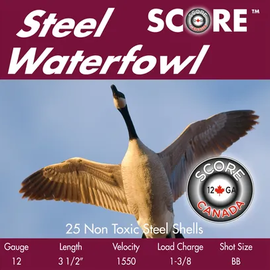 """Score Score Steel 20ga, 3"""", #6, 7/8 oz, 1550 fps, 25 rnds"""