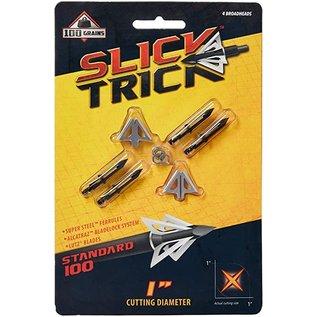 """Slick Trick Slick Trick Standard Broadhead ST100S , 4 Blade, 1"""", 100gr, 4pk"""