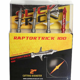 "Slick Trick Raptor Trick Mechanical Broadhead, 2 Blade, 2"", 100gr, 3pk"