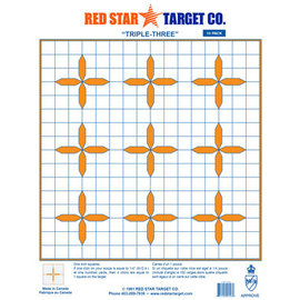 Red Star Red Star Triple Three Target 10pk