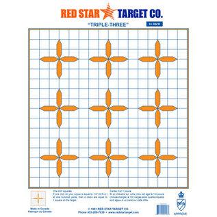 Red Star Red Star Triple Three Target 10pk