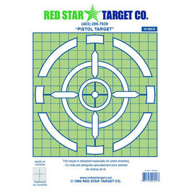 Red Star Red Star Pistol Target 10pk
