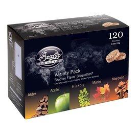 Bradley Bradley 5 Flavour Variety 120 Pack (Alder, Apple, Hickory, Maple, Mesquite)