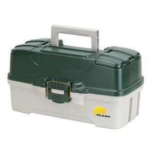 Plano Plano 3 Tray Tackle Box w/Dual Top Access Green/Off White