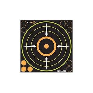 """Allen Allen EZ See Adhesive Bullseye Target (6 per pack) Blk 8""""x8"""""""
