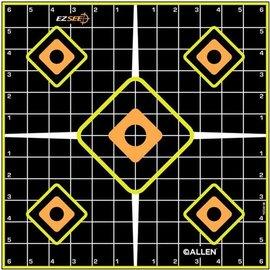 "Allen EZ See Adhesive Sight In Grid Target 12"" 5pk"