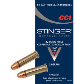 CCI CCI Stinger 22 LR 32 gr CPHP, 1640 fps, 50 rnds