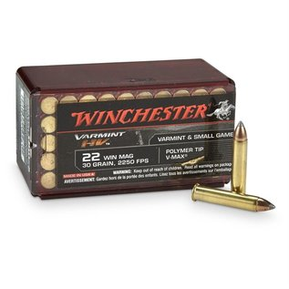 Winchester Winchester Varmint HV .22 WMR 30 gr V-Max, 2250 fps, 50 Rounds