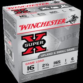 "Winchester Winchester Super-X 16 ga Lead Ammo , 2.75"", #6, 1 oz, 1165 fps,  25 rnds"