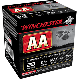 "Winchester 28 ga Lead  -  Winchester AA TrAAcker, 2.75"", #7.5"