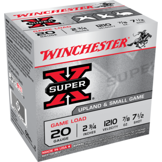 """Winchester 20 ga Lead  -  Winchester Super-X 2.75"""", #7.5"""