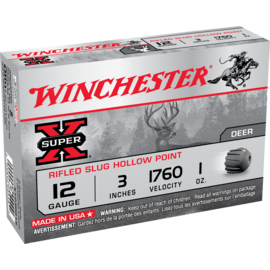 """Winchester 12 ga Lead  -  Winchester Super-X Rifled Slugs 3"""""""