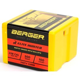 Berger Berger Bullets .338, 300 gr Elite Hunter, 100 Rnds