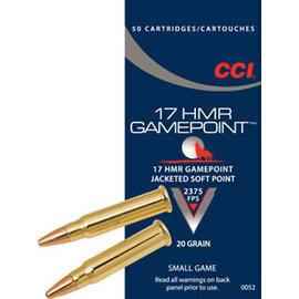 CCI CCI Gamepoint 17 hmr 20 gr JSP 50 rnds