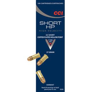 CCI CCI 22 Short CPHP 27 gr, 100 rnds