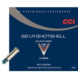 CCI CCI Shotshell Ammo 22 LR, 31 gr Ammo 20 rnds