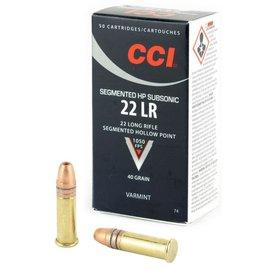 CCI CCI Segmented HP 22 LR 40 gr CPSHP, 50 rnds
