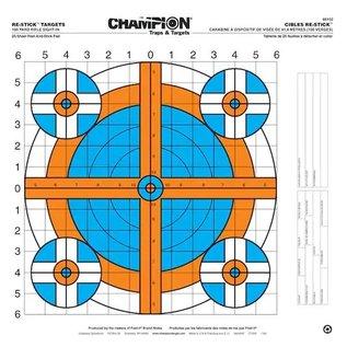 Champion Champion Re-Stick 100yd Rifle Sight-In Target 16x16 25pk