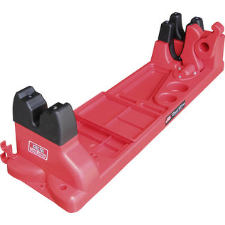 MTM MTM Gun Vise with Cleaning Compartments & Storage Area, Red