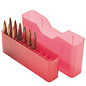 MTM MTM J-20 Slip Top Ammo Box Clear Red