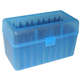 MTM MTM R-50 Series Ammo Box Clear Blue