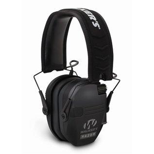 Walkers Walkers Razor Slim Shooter Folding Electronic Ear Muff, NRR23dB, Low Profile, HD Sound, Black