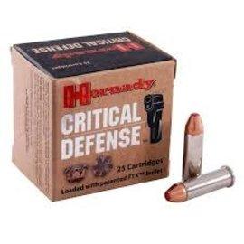 Hornady Hornady Critical Defense Ammo 38 SPL + P, 110 gr FTX, 1090 fps, 25 Rnds