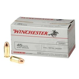 Winchester Winchester Pistol Ammo 45 ACP, 230 gr FMJ, 835 fps, 100 Rnds