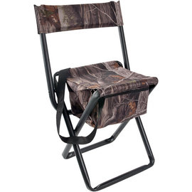 Allen Folding Stool with Back & Zippered Storage