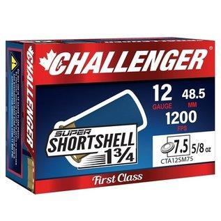 """Challenger 12 ga Lead  -  Challenger SUPER SHORTSHELL 1-3/4"""" 5/8oz. #7 1/2 20 rnds"""