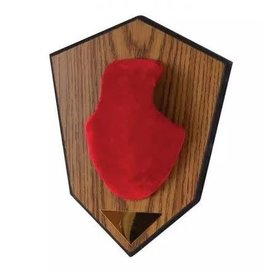 Allen Antler Mounting Kit Wood Grain Plaque Red Skull Cover