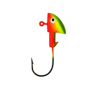 Eagle Claw Walleye Jig 1/8 Oz, Chart/Orange, 3Pk