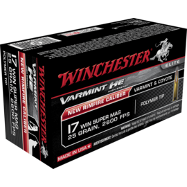 Winchester Winchester Varmint HE Rimfire Ammo 17 WSM 25gr