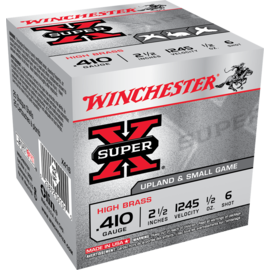 "Winchester 410 ga Lead  -   Winchester Super-X Shotshell  2.5"" 1/2oz High Brass #6"