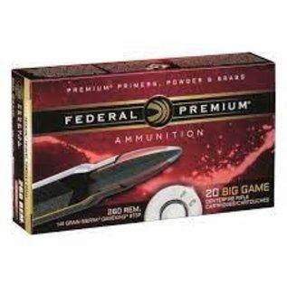 Federal Federal Premium 260 Rem 140 gr Sierra Gameking BTSP 2700 fps, 20 rnds