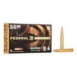 Federal Federal Gold Medal 30-06 SPR 168 gr Seirra MatchkingK BTHP 2700 fps, 20 rnds