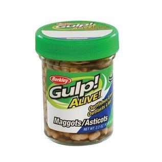 Berkley Berkley Gulp Alive Maggot, 2.2 oz,  White